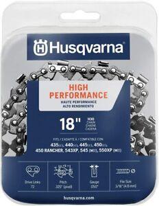 Genuine Husqvarna 531300439 18-Inch H30-72 (95VP) Pixel Saw Chain .325 .050