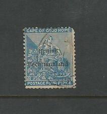 Bechuanaland: British Scott 1, used, corner up regular, wmk 1 . BE07
