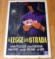 LA LEGGE DELLA STRADA movie poster affiche Pellegrin Pampanini La loi des rues