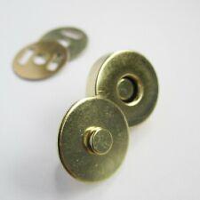 14mm 18mm bronze gunmetal gold silver magnetic bag snap fastener purse leather