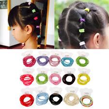 Mini 50Pcs Baby Girls Ring Elastic Hair Bands Tie Gum For Hair Ponytail Holder