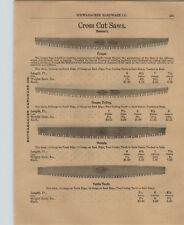 1903 PAPER AD Simond's Disston Cougar Navada 2 Two Man Cross Cut Saw Saws