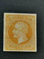 Germany Stamp  HANNOVER, 3 groschen, Mi 16a  F/VF/MNH.