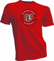 CLEVELAND BARONS DEFUNCT OLD TIME NHL HOCKEY RED T-SHIRT NEW Tee handmade 1A