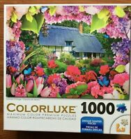 COLORLUXE Summer Cottage 1000 Piece Jigsaw Premium Puzzle Complete