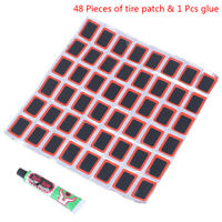 Motor Bicycle Bike Tyre Tire Inner Tube Puncture Rubber Patches Repair Kit Set