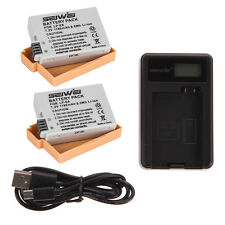 2x Battery + USB Charger for LP-E8 LPE8 For Canon LP-E8 EOS 700D 650D 600D 550D