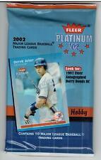 2002 Fleer Platinum 8 Pack Hobby Lot