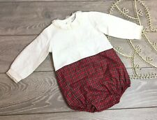 Pretty Originals Spanish Designer Baby Romper Playsuit Outfit Red Checked 24 2 Y