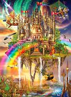 1000 Piece Vivid Collection Rainbow City Jigsaw Puzzle Premium Quality Materials