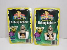 Vintage Zebco Power Rangers White Ranger Fishing Bobber Lot Of 2
