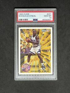 1993 Fleer Basketball Shaquille O'Neal #231 Award Winner PSA 10 Gem Mint