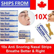 🍁 10x Anti Snore Nasal Strip Strips Breathe Right Sleep Better Stop Snoring 🍁