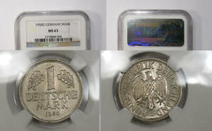 1950-G GERMANY MARK NGC MS 63 VERY TOUGH EARLY DATE INV#374-B28