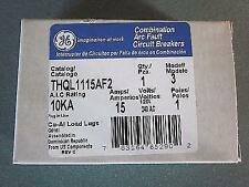 GE THQL1115AF2  15A COMBINATION ARC-FAULT BREAKER NEW IN BOX