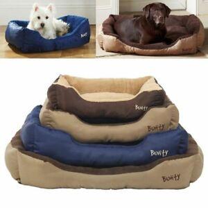 Bunty Deluxe Soft Washable Dog Pet Warm Basket Bed Cushion with Fleece Lining
