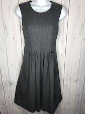 Banana Republic Women's Size 6 Gray Sleeveless Pleat Front Dress Career