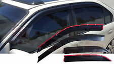 New 1996 00 Honda Civic 4DR Plastic Carbon Print Style Window Sun/Wind Visor Set