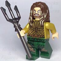 New Super Heroes LEGO® Aquaman Minifigure Justice League DC 76085 Genuine