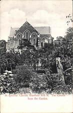 Stamford Hill. St Ignatius' Church from the Garden by Hartmann.