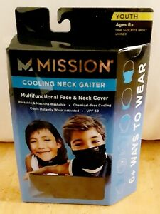 Mission Cooling Neck And Face Gaiter Youth Size Blue/gray Camouflage LAST ONE!