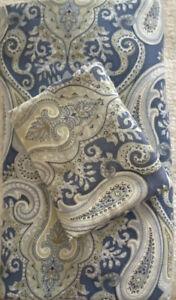 Paisley Duvet Cover Blue/Green Full/Queen & King Sham Pottery Barn Sienna?