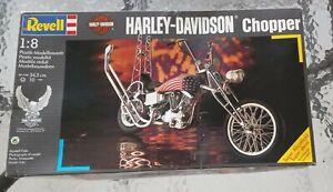 New Revell Model Kit Harley-Davidson Chopper 1:8 Scale #7928 Made In 1989