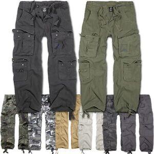 Brandit Pure Vintage Trouser Herren Outdoor US Army Armee Cargohose Lang Neu