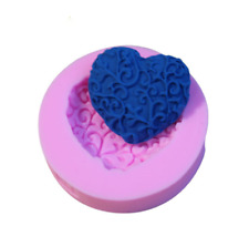 DIY 3D Chocolate Cake Cookie Flower Heart Mold Fondant Baking Silicone Mould