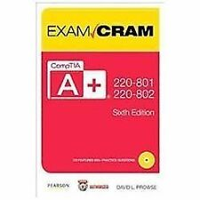 CompTIA A+ 220-801 and 220-802 Exam Cram (6th Edition), David L. Prowse, Very Go