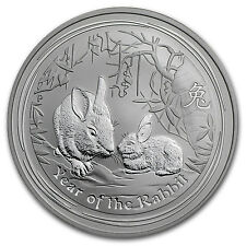 2011 1 oz Silver Lunar Year of the Rabbit Coin (Series II)
