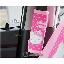 Hello Kitty Seat Belt Cover (2pcs) Car Accessory: Dot Pattern