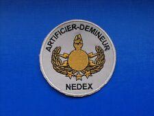 insigne tissu militaire armée écusson patch Artificier Démineur NEDEX EOD