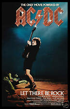 Large 24x36  AC/DC  * Let There Be Rock * Movie Poster 1980