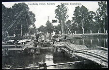 DUTCH INDIES~Indonesia~Java~ 1900's SOERABAIA~Goebeng River ~BRIDGE CONSTRUCTION
