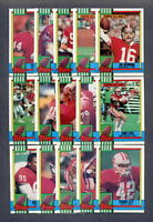 1990 Topps San Francisco 49ers TEAM SET (25) w/ Traded