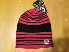 Sessions Heather Stripe Acrylic Loose Beanie Toboggon Hat Adult One Size