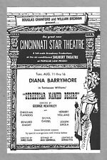 """Diana Barrymore """"A STREETCAR NAMED DESIRE"""" Tennessee Williams 1959 Program"""