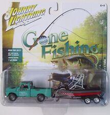 JOHNNY LIGHTNING GONE FISHING 1965 CHEVY TRUCK w/BOAT & TRAILER R1B 1/2,004
