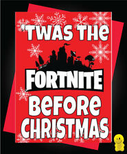 Funny Rude Christmas Card - Fortnite - Twas the fortnite before Christmas	XM97