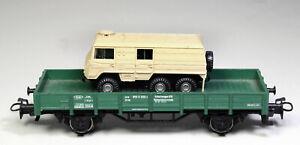 H0 Märklin grüner Schutzwagen aus 29180 mit Roco Steyr Puch Pinzgauer 6x6