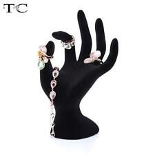 Mannequin Hand Ring Bracelet Necklace Stand Holder Black Velvet Jewelry Display
