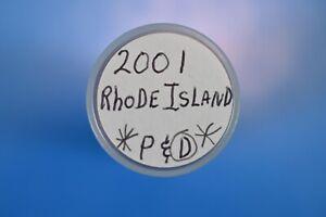2001 P&D  Rhode Island State Quarters, 40 Quarters per roll. 1-Rolls