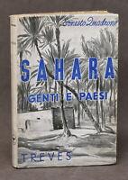 Esplorazioni Viaggi Africa - E. Quadrone - Sahara - Genti e paesi - 1^ ed. 1938