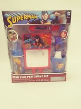 DC Comics Superman 5 Set Bath Time Play Shave Set Mirror Included 4+ boys