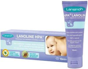 Lansinoh HPA LANOLIN NIPPLE CREAM 10ML Baby Breast Feeding Soothing 0m+ BN
