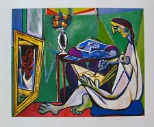 "Pablo Picasso WOMAN DRAWING Estate Signed Limited Edition Art Giclee 20"" x 26"""