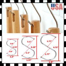 Lot S Shaped Hanging Hooks Stainless Steel Kitchen Bathroom Bedroom Cap Hanger U