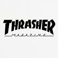 Thrasher logo vinyl decal, pick size and color.