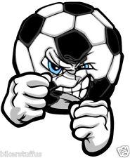 ANGRY SOCCER BALL FOOTBALL SPORT BUMPER STICKER